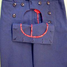 Drop Front Pants sailor skirt, short, sailor pants pattern, blue black, dress blue, sew pattern, sailors, the navy, blues