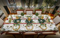Overview Christmas Tablescape 2013