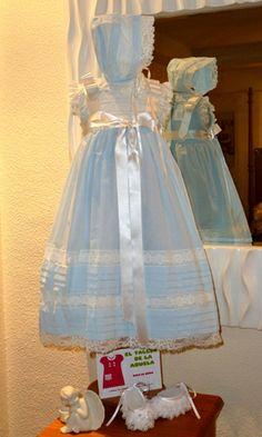 Ropa de bebé - Colección ropa de niños El Taller de la Abuela. Faldones de bautizo para niños y niñas