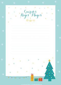 Carta a los reyes magos imprimible de La fiesta de Olivia, también versión Papá Noel.