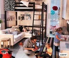 Ikea loft bed (reading nook underneath), or reading nook up top and desk underneath.