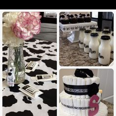 Milkaholic  themed baby shower