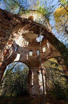 Church ruins in Russia.