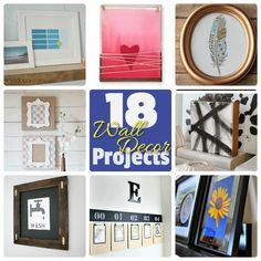 Great Ideas — 18 DIY Wall Decor Projects!