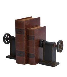 decor, books, man cave, metal bookend, metals, bookend set, homes, industri bookend, bookendsconstruct materi