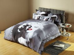 Marilyn Monroe Bedding 3D Duvet Cover Set by Dolce Mela DM491 King OR Full / Queen sets