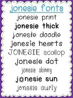 jonesie fonts... 18 cute fonts for personal or commercial use. $