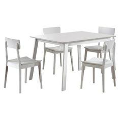 5 Piece Torino Dining Set - White