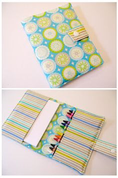 Crayon wallet tutorial.....packs up easily for that kid who has to sit around waiting someplace.....It's your own personal babysitter!