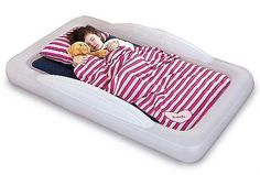 Inflatable Toddler Airbed - seriously great product.