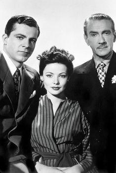 "Dana Andrews, Gene Tierney & Clifton Webb in ""Laura"" 1944."