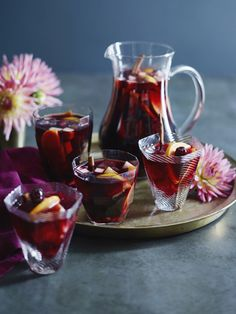 Amarena Cherry Sangria by Gaby Dalkin, a delicious fall-spin on a classic drink. Photo by Matt Armendariz. #sangria #cherry #recipe
