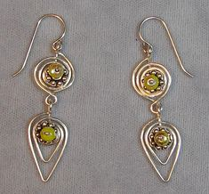 Spiral Leaf Wire Earrings - A project from Issue 20 (Nov/Dec 2008) Holiday Issue of Bead-Patterns the Magazine!