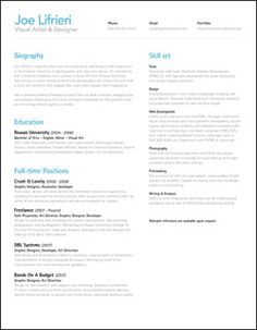 clean, structured resume