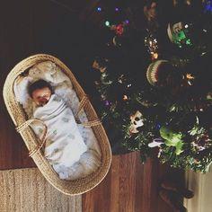 newborn Christmas photo inspiration || Amanda Watters @Amanda Watters on Instagram
