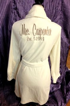 Bride Fleece robe Bridesmaid robe Maid of Honor by GiftsbyEthix, $36.50