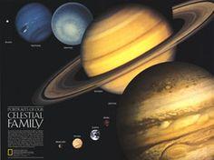 Portraits of our celestial family Map 1990 from Maps.com #Maps.com