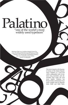 Palatino typeface