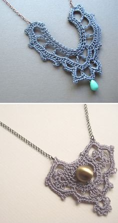 Crochet necklaces.