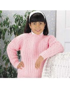 Lacy Sweater - This sweater is worked from the neck down, all in one piece. Designed by Sharon Volkman  free pdf