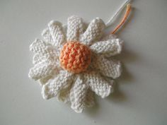 Knit Double Daisy ~ Free PDF Pattern