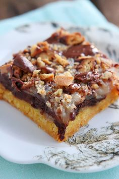 Girl Scout Cookie Tagalong Cake Bars