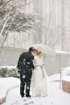 Love the snowy scene with the umbrella