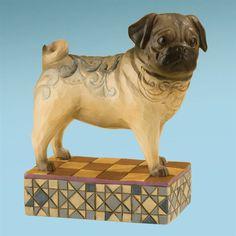 Sarge-Pug Figurine - Jim Shore Store