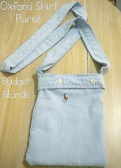 www.budgetblonde.com Oxford shirt purse