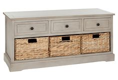 Arlington 3-Drawer Storage Unit, Taupe on OneKingsLane.com