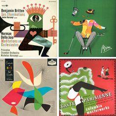 Various vintage album covers