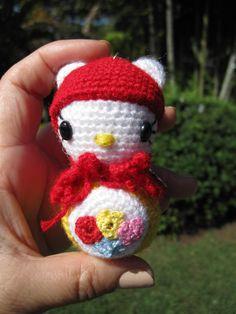 Crochet hello Kitty Pattern on Etsy