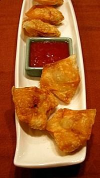Chicken & Shrimp Won Tons w/ Chili Sweet & Sour Sauce