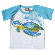 Tresics - Turtle Short Sleeve Tee $16.50 @ totsy.com - Your baby boy's clothing should have as much character as he does. This watercolor-inspired sea turtle tee is crafted from organic materials that keep baby's eco-footprint small, right from the start -- after all, he is the next generation to inherit Mother Earth.     100% Organic cotton  Machine wash warm, tumble dry low  Imported