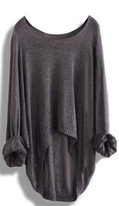 Long-sleeved Knit Shirt Blouse