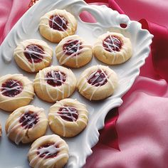 Raspberry Almond Shortbread Thumbprints... Made these several years now.