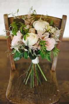 Blush and natural #wedding bouquet