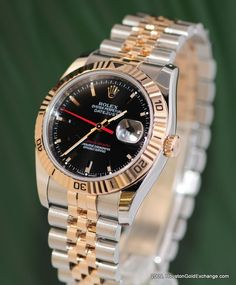 Rolex Turn-O-Graph DateJust 36mm in Everose and Stainless Steel. 2011 was the last year the Turn-O-Graph was made.