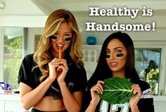 "Two Super Sexy Girls Demonstrate ""Healthy Is Handsome"" Super Bowl Recipes [Video]"