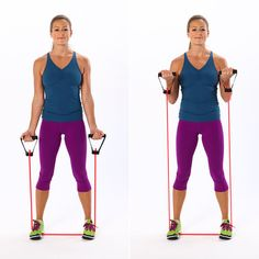 Easy Resistance-Band Exercises | POPSUGAR Fitness