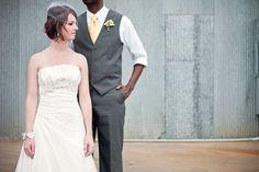 i like the grooms look here. but chocolate brown and mint green tye