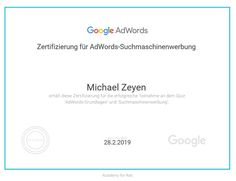 Google AdWords Suchm