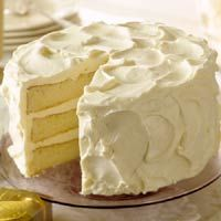 5 Star White Christmas Butter Cake: recipe from Midwest Living Magazine.  Frosting made with cream cheese and white chocolate. Yummy!