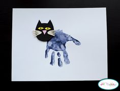 handprint black cats {meetthedubiens}