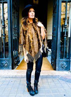Las Dalias Poncho, 3.1 Phillip Lim Bag, Jeffrey Campbell Shoes