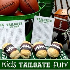 Kids Tailgate Fun! If you'll have little ones joining you for the big game this season, you need to check out the cute tips in this blog!