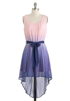 High-low ombre dress-pink fades into purple