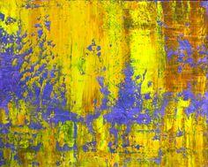 """Saatchi Online Artist: Aida Markiw; Oil, 2012, Painting """"Yellow Haze"""" art, complimentari color"""