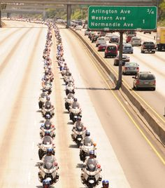 CHP, motorcycle procession for a Line of Duty death