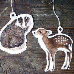 Woodland Animals Gift Tag Set